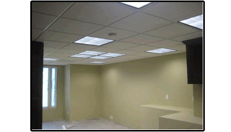 suspended ceilings can be supplied for your office